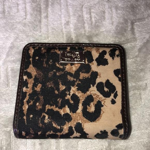 Coach wallet leopard print